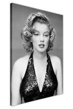 BLACK AND WHITE MARILYN MONROE EVENING DRESS CANVAS PRINTS WALL ART PICTURES