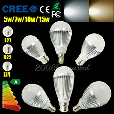 4 6 10x B22/E27 Dimmable Cool white led light bulb 240V led globes Warm white AU