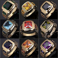 Size 8 To 13 Man's Fashion Jewelry  10KT Gold Filled Ring Wedding Gift