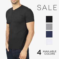 Bella + Canvas Henley Men's Tri Blend Short Sleeve Basic T-Shirt Henley 3125