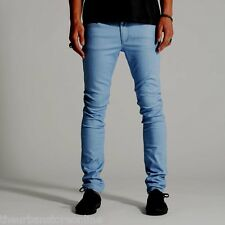 "Wrangler Men's ""Strangler"" Skinny Stretch Denim Jean Flat Blue BNWT 50% OFF"