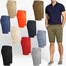 MENS CHINO SHORTS BOTTOMS KNEE LENGTH CARGO COMBAT PANTS COTTON CASUAL SUMMER