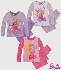 GIRLS NEW LICENSED BARBIE LONG PYJAMAS, SET, BNWT, 100% COTTON, SIZES 2- 8 years