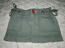"WOMEN;S AMERICAN EAGLE ARMY GREEN MINI SKIRT~SIZE 0~12"" lENGTH"