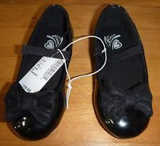 NWT Tod Girls CHILDREN'S PLACE Black Patent Leather Ballet Flats Shoes Size 8 10