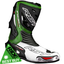 RST Tractech Evo Motorcycle Sports Race Boots - Green