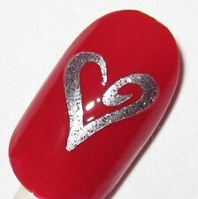 Finger nail / Toe nail Swirly Heart decals / stickers / art Pedicure manicure