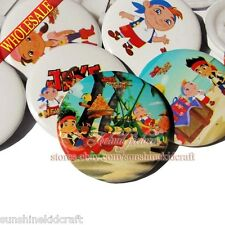 Jake and Pirate Tin Buttons pins badges,30MM,Round Brooch Badge,Decorate Gift