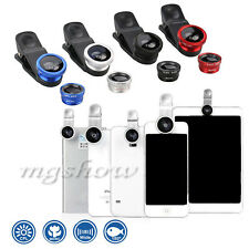 Universal 3in1 Wide Angle 180°Fish Eye & Macro Camera Lens Clip For Moblie Phone