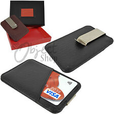 Quality Hide Leather Money Clip by The Object Shop Credit Card Wallet Holder Box