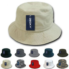 DECKY Fisherman's Bucket Washed Chino Twill Hat Hats Cap Caps Cotton Unisex