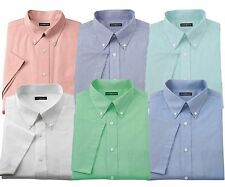 New Croft & Barrow Men's Short Sleeves Button-Down Collar Dress Shirt MSRP $36