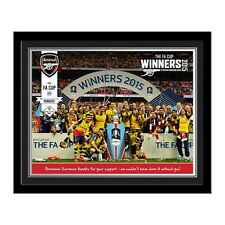 Personalised Arsenal FC Football Club FA Cup Winners 2015 Photo Souvenir