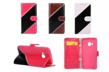 Flip Leather Stitching design Wallet ID Cards Stand Case Cover For HTC One M8 M9
