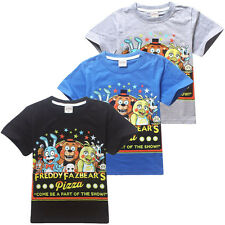 Fnaf Childs Kids Boys Girls Five Nights at Freddy's T-Shirts Clothing 4-13Years