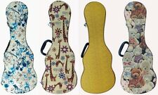 Ukulele Hard Case Thick Flannel Layer, Tenor & Concert size
