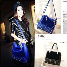 Korean Fashion Style Women Lady Rivet Stud Tote Messenger Shoulder Handbag Bag