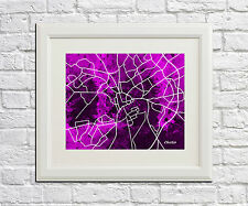 Chester Map Print City Abstract Poster Art Street Map Artwork of Chester