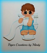 Craftecafe Mindy Potty bath boy baby premade paper piecing scrapbook page