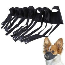 Adjustable Soft Dog Puppy Grooming Muzzle Nylon Stops Barking Biting All Sizes
