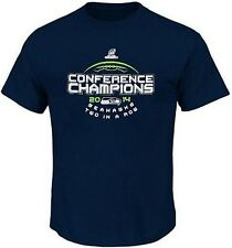 Seattle Seahawks 2014 Conference Mens Navy Blue T Shirt Big & Tall Sizes