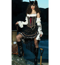 Sultry Swashbuckler Deluxe Womens Pirate Costume Fancy Dress Halloween