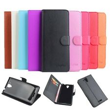 """New Stand Wallet Build-in Case Cover Skin For 5.3"""" Lenovo S8 S898t Mobile Phone"""