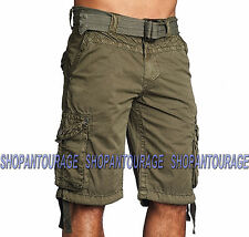 Affliction Observation 110WS089 Men`s New Military Green Cargo Shorts