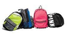 Victoria's Secret PINK Campus Backpack Black Bling Pink Blue Ruby Gray Marl- NWT