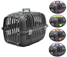 HERITAGE PLASTIC PET CARRIER DOG PUPPY CAT KITTEN RABBIT TRANSPORT TRAVEL CAGE