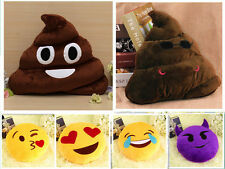 New Cute Cushion Emoji Smiley Emoticon Poop Shaped Doll Toy Soft Pillow LO