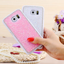 Glitter Bling Crystal Diamond Hard Back Case Cover For Samsung Galaxy S6 S6 Edge