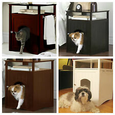 Litter Box Cover Enclosure Night Stand Side End Table Cat Kitty Washroom House