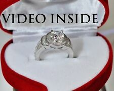 Fine Round Cut 1.05CT Engagement Ring Wedding Diamond Ring Made in Italy Size 5
