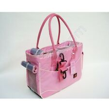 Pink Nylon Dog Totes Bag Puppy Carriers Purse Pet Carriers Bag Cat Handbag Cage