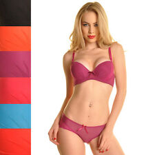WOMEN'S BRA AND PANTY SET,  LACE ACCENTS! COLORS! , 32-36B, 38&38C & 40C, NWT!