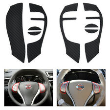 Carbon Fiber Steering Wheel Cover Sticker For Nissan Rogue X-Trail 2014 2015 NEW