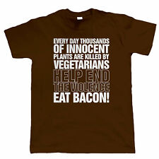 Eat Bacon Mens Funny T Shirt, Chef BBQ Fathers Day Birthday Gift For Dad Him