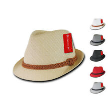 Lunada Bay Paper Straw Fedora Braided Hatband Hat Hats Paper Straw Summer
