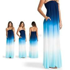 Trendy Women's Lady Long Maxi Dress Cocktail Evening Party Strapless Gown  U12