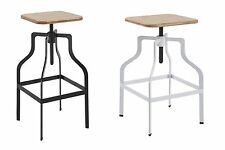 urban chic bar stool with an industrial style in white or black
