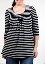 GTL- Plus Pleated Front Tunic-Size 16-32-Grey