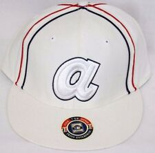 NEW Atlanta BRAVES Cooperstown Collection White Red Blue Baseball Cap Hat