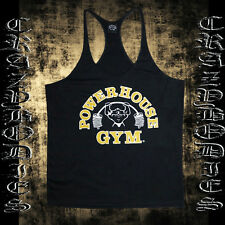 POWERHOUSE BODYBUILDING TANK TOP | GYM STRINGER | WORKOUT  SINGLET | Y BACK