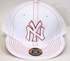 NEW New York YANKEES Cooperstown Collection White Red Stitched Baseball Cap Hat