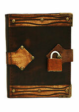 Plain Padlock Brown Leather Journal / Diary / Notebook / Notepad