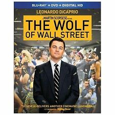 The Wolf of Wall Street (Blu-ray/DVD, 2014, 2-Disc Set, Includes Digital...