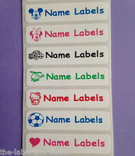 Stick on Waterproof School Identity Personalised Printed Name Labels Stickers