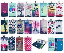 Wallet Pouch Printed PU Leather slot Card Flip Cover TY1 Case For Phones