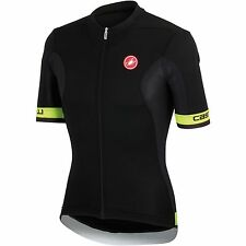 Castelli Volata Short Sleeve Men's Cycling Jersey 4514014-321-Black/Yellow Fluo